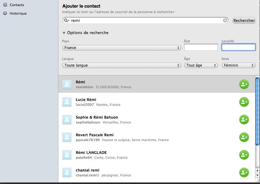 recherchez-un contact-sur skype