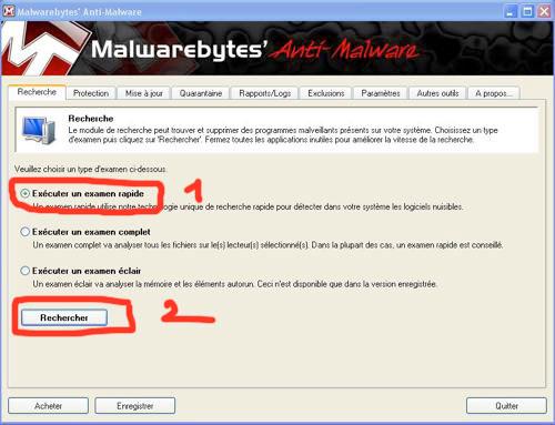 accueil de malwarebytes