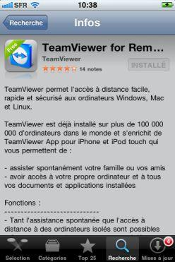 App store - Teamviewer remote control