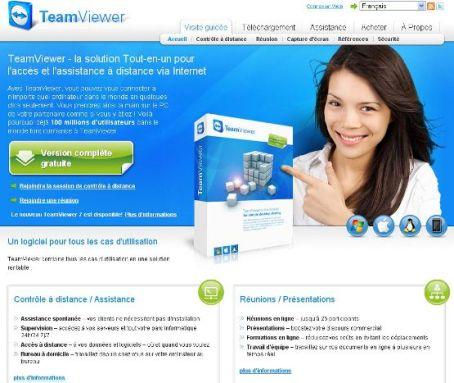 page accueil homepage de teamviewer