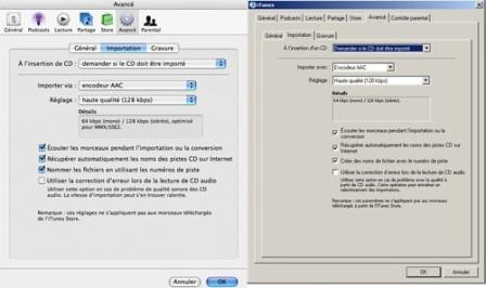 option Importation Itunes windows Mac