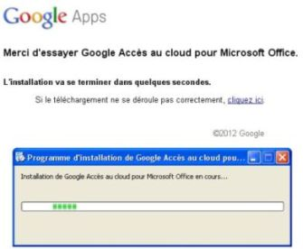 Installation automatique google cloud office