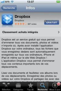 Appstore iphone dropbox