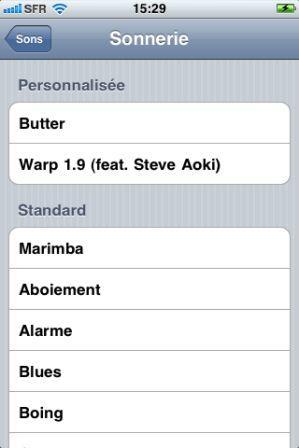 musique nouvelles sonneries iphone