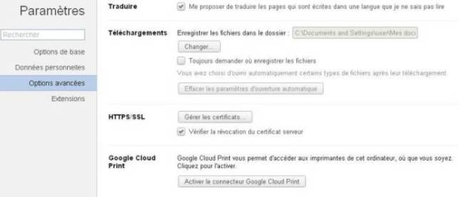 Chrome google print cloud
