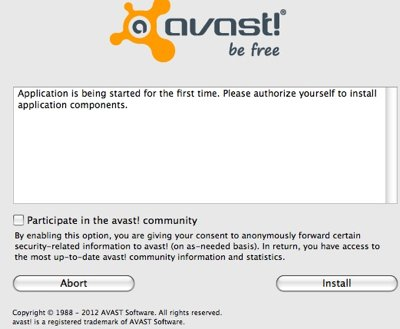 Installation antivirus avast apple