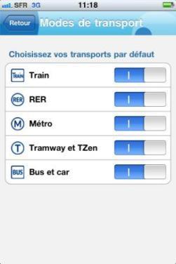 modes de transports Vianavigo