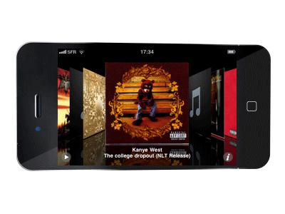jaquette album musique iphone