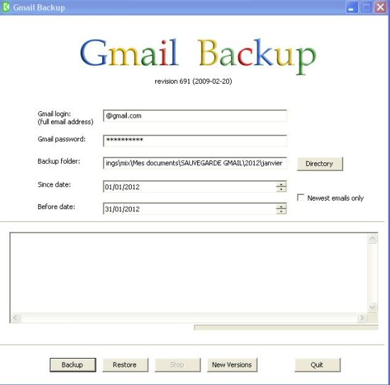 gmail-backup-sauvegarder