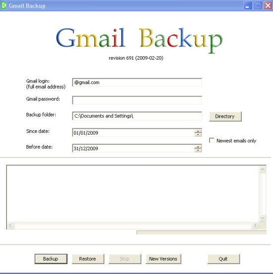 interface-gmail-backup