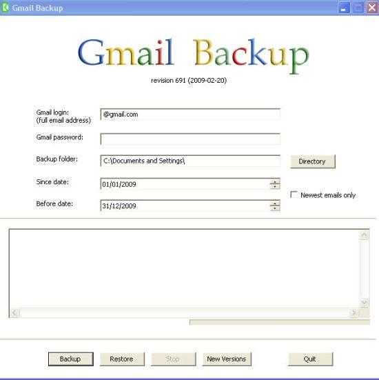 interface-gmail-backup