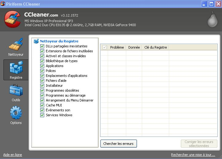 nettoyage registre windows ccleaner