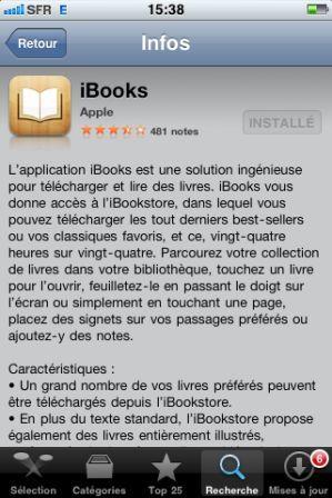 installer ibooks sur iphone